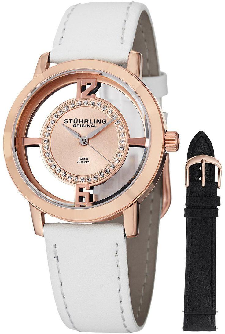 Reloj Stuhrling Original Winchester Tiara 16k de oro rosa-plateado  | Antes: $1,035,000.00, HOY: $230,000.00