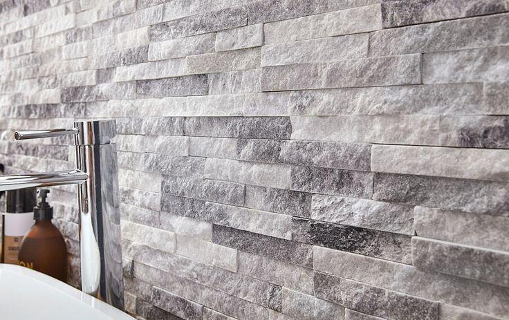 Plaquette de parement pierre naturelle blanc Ultra artic   #leroymerlin #marbre #parement #pierre #ideedeco #madecoamoi