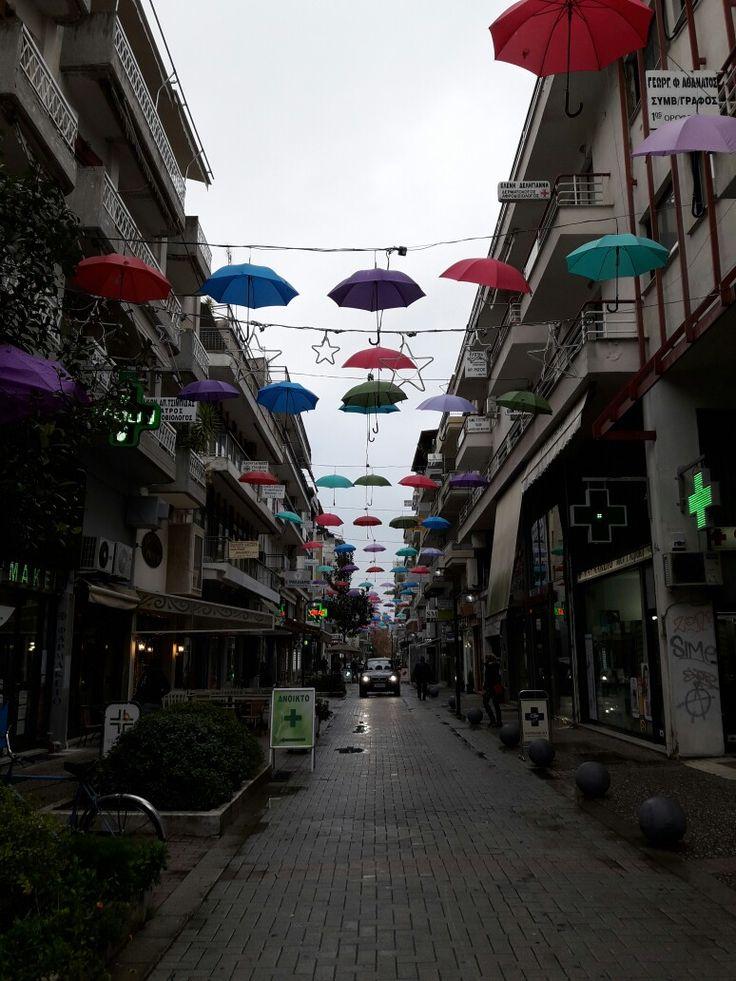 Umbrella  street  #Trikala Greece
