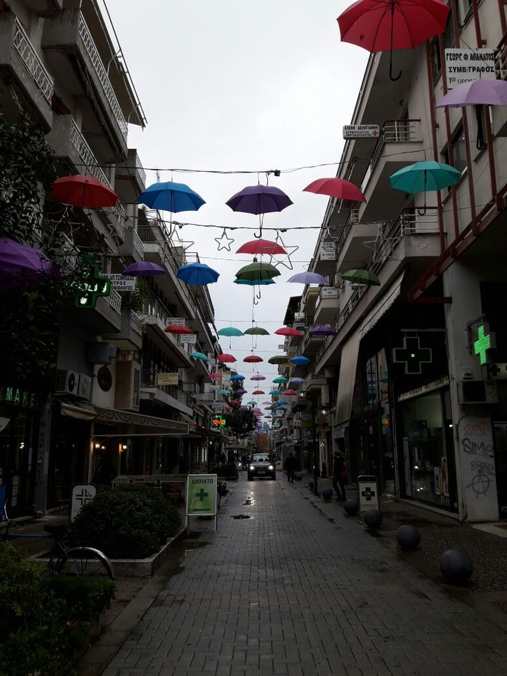 Umbrella  street  #Trikala Greece