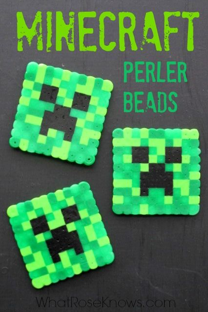 Minecraft Perler Beads Patterns & Ideas!