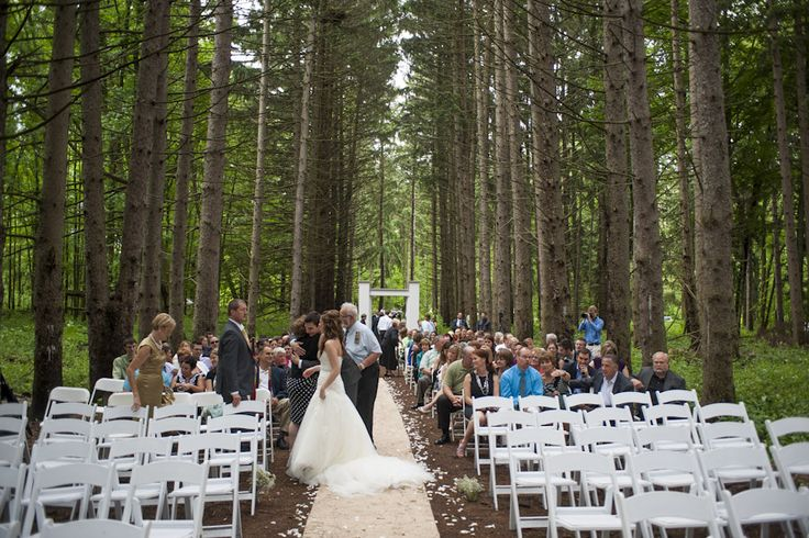 Outdoor Woods Wedding Ceremony: Outdoor Wedding / Wedding In The Woods / Stony Creek