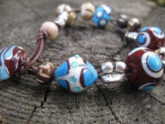Armband Glasperlenarmband handgemachte Glasperlen von vivre4life