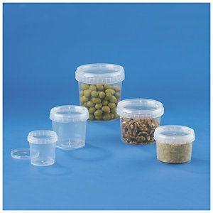 Pot plastique transparent inviolable