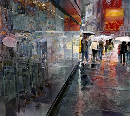 John Salminen - Absolute unbelievable city scenes.  I especially love his glass reflections and watery puddles. Other scenes depict glowing taillights and foggy dawn.