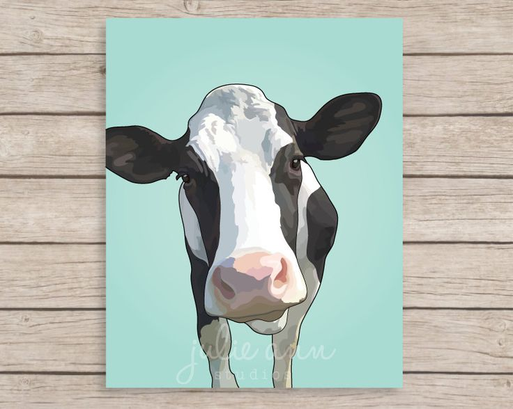 Dairy Cows Wall Mural Farm Animals Photo Wallpaper Kitchen ... |Holstein Cow Decorations