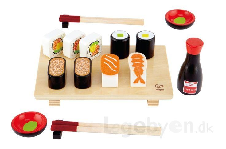 Køb Legemad - Sushi i træ & filt - 21 dele. online - Hape