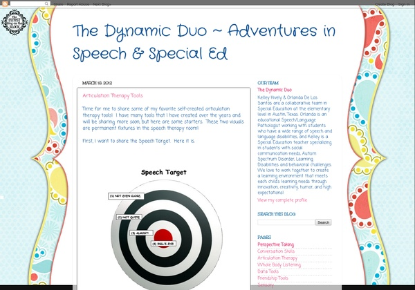 SLP:  This new blog looks interesting.  Written by both an SLP and Special Ed Teacher.  I will definitely start reading this one.  -  Pinned by @PediaStaff – Please Visit http://ht.ly/63sNt for all our pediatric therapy pins