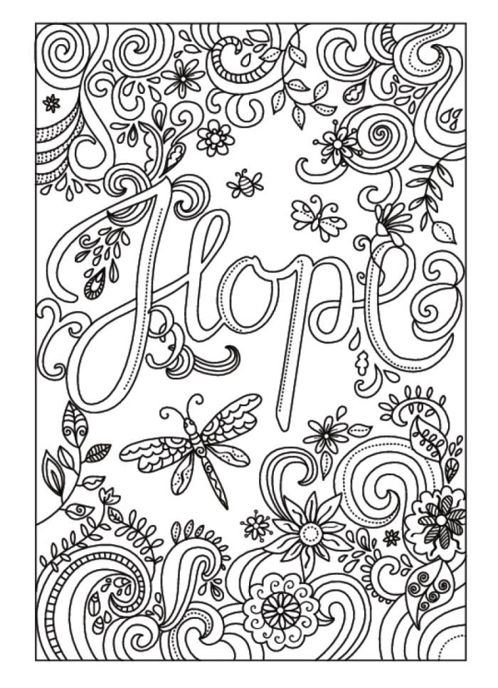 Amanda Hillier - 2.hope | Coloring books, Adult coloring ...Y Coloring Pages For Adults
