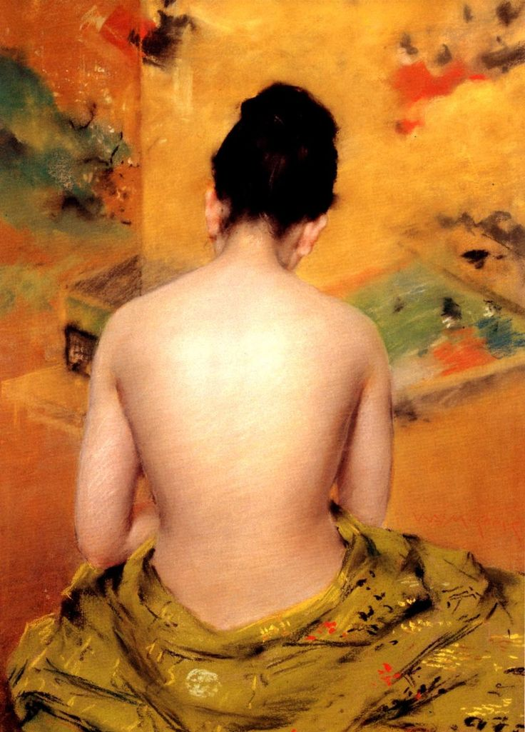 "William Merritt Chase (1849-1916): ""Back of a Nude"" (Oil on canvas - Collection of Mr. and Mrs. Raymond J. Horowitz)"