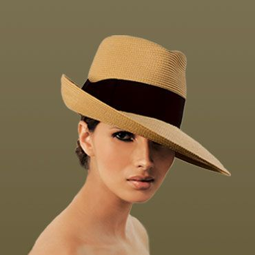 Fedora from Eric Javits. I LOVE a good brim.
