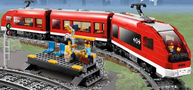 brick train set | ... Lego 7938 Passenger Train set Lego City 7938 Passenger Train
