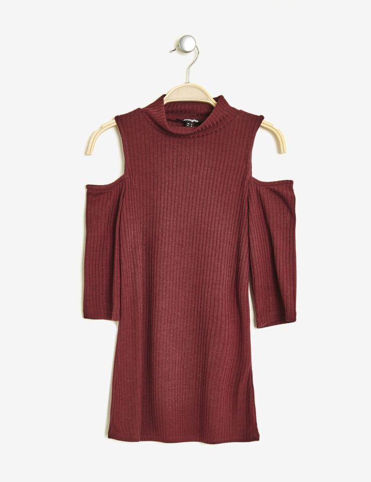 Tee-shirt épaules ajourées bordeaux femme • Jennyfer