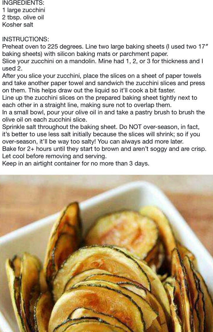 Baked zucchini chips! :)