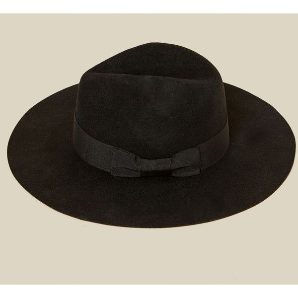 Brixton Duvall Fedora ($68) ❤ liked on Polyvore featuring accessories, hats, black, brixton hats, brixton fedora, wide brim fedora, band hats and brixton