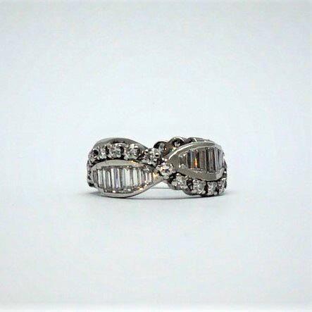 Baguette and Brilliant Cut Diamond Eternity Ring.
