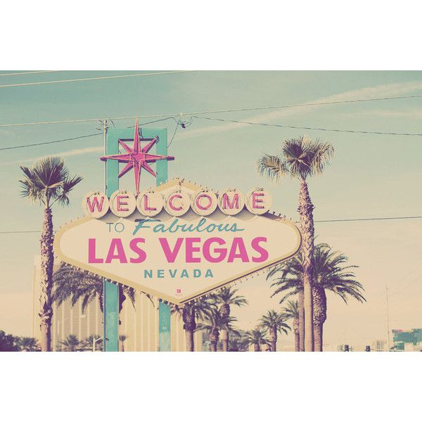 Welcome to Fabulous Las Vegas Sign Nevada USA Travel Photo Art Print -... ❤ liked on Polyvore