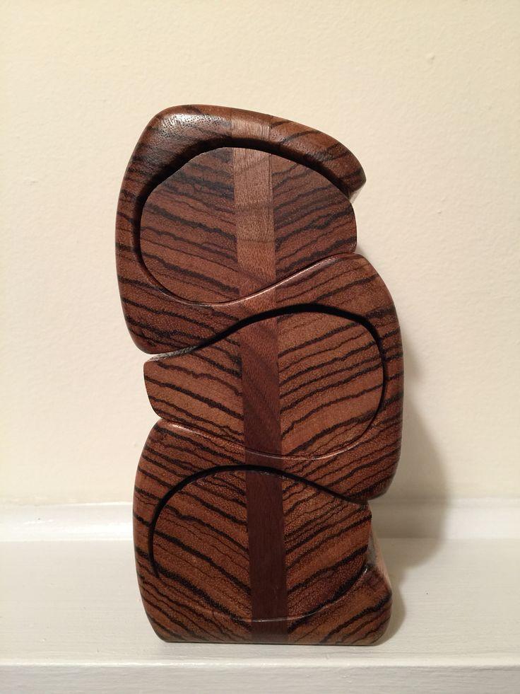 Wood Band Saw Box ~ Bandsaw box made from zebra wood and black walnut boxes