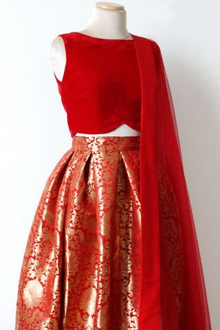 Opulence Skirt - Red