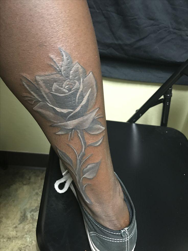 White tattoos on dark skin ❤️