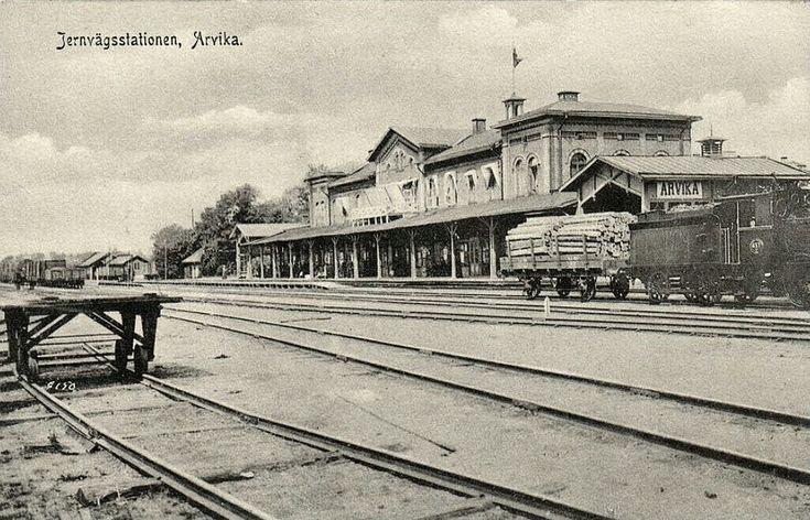 Värmland Arvika kommun Arvika Järnvägsstation skickat 1906 Utg Kulls grafiska