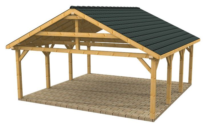 Wooden Carports and Garages | Wood Frame Carport Designs