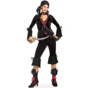 Déguisement baroque pirate des 7 mers femme, costume pirate adulte, Halloween, carnaval, fêtes.