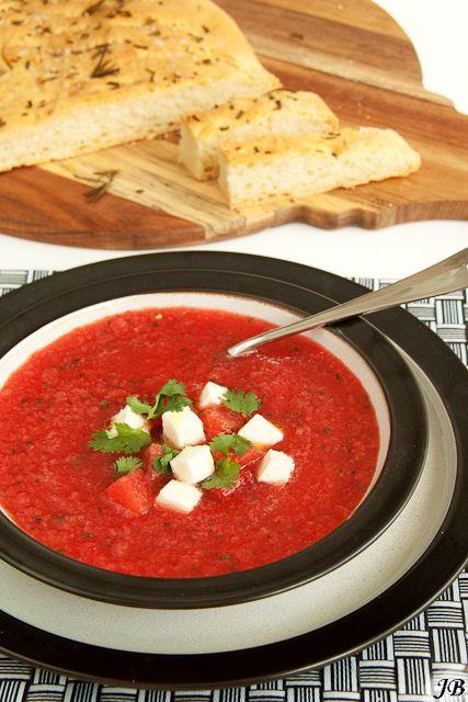 Carolines blog: Gazpacho van watermeloen en tomaat