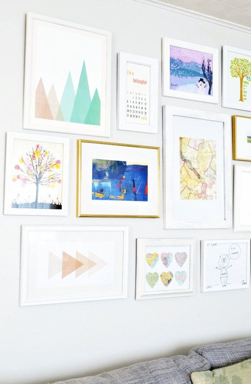 Mint Nursery Coral Nursery Geometric by MelindaWoodDesigns on Etsy