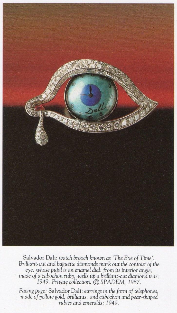 Salvador Dali watch brooch