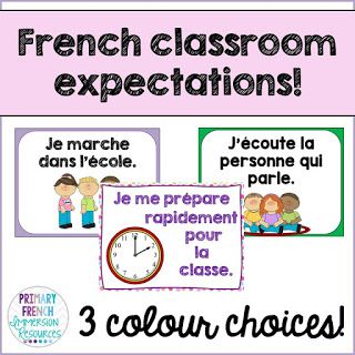 Primary French Immersion Resources: Classroom expectation posters