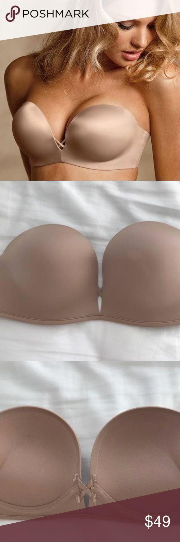 Victorias Secret Strapless Womens Push Up Bra 34B Nude