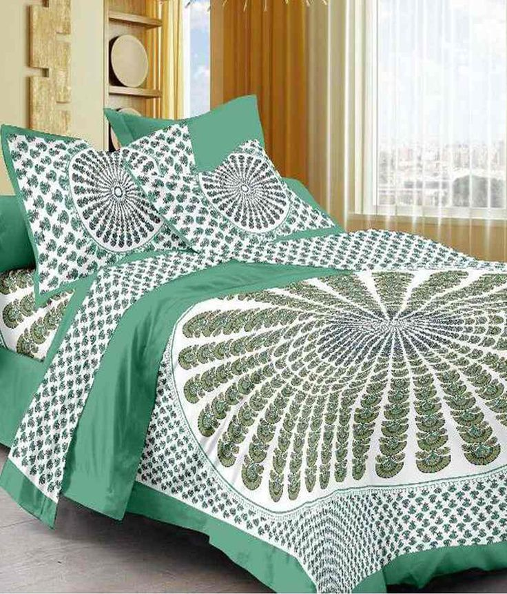 UniqChoice 100% Cotton Double Bed Sheet With 2 Pillow Cover