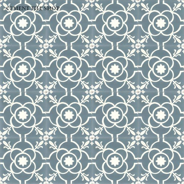 Cement Tile Shop - Encaustic Cement Tile Paris Blue