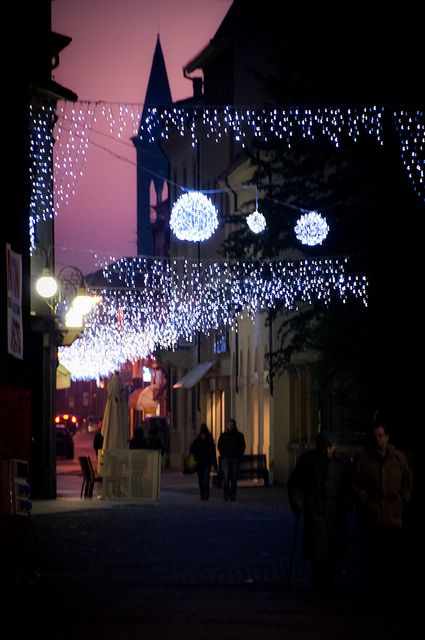 Luminarie di Natale a #Lugo di #Romagna, #Ravenna (Via Baracca)