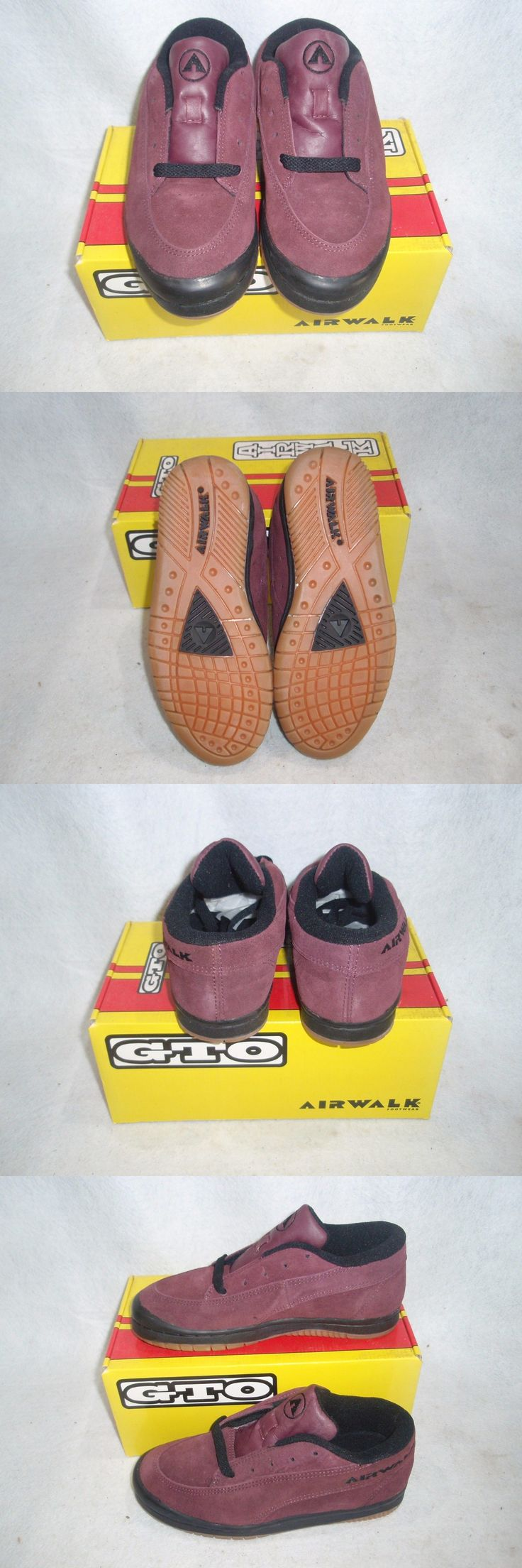 Youth 159072: Nos Vintage 1990S Airwalk Gto Footwear Guys Size 4.5 Color - Wine Sk8 Bmx Shoes BUY IT NOW ONLY: $49.99