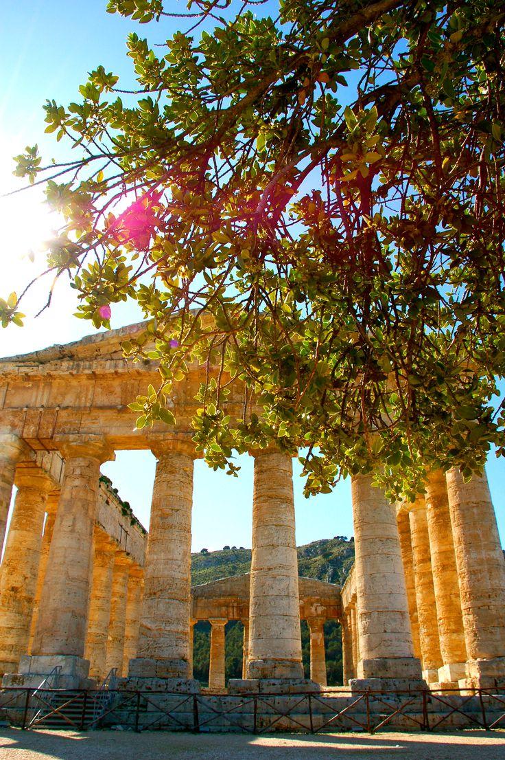 The Doric Temple of Segesta, Province of Trapani , Sicily region Italy