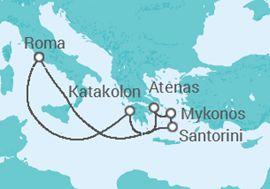 Itinerario del Crucero Islas Griegas y Atenas - Royal Caribbean