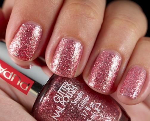 819 - PINK GLITTER Glitter Nail Polish