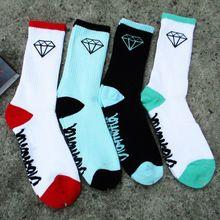 2015 Moda de Nova marca diamante Cintura alta tubo de algodão meias altas ajudar homens e mulheres meias meias toalha meias meias de skate(China (Mainland))