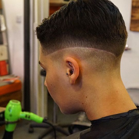 faded cut with defining line