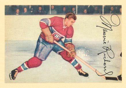 maurice richard hockey cards | 1953 Parkhurst Maurice Richard #24 Hockey Card