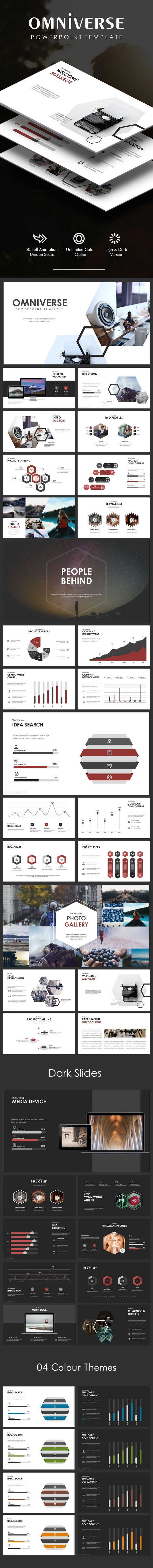 Omniverse Powerpoint Template - Creative #PowerPoint #Templates Download here: https://graphicriver.net/item/omniverse-powerpoint-template/20293904?ref=alena994