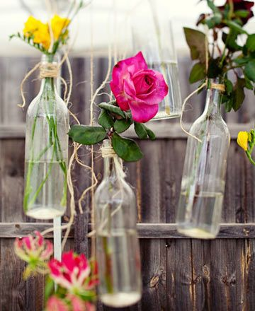 Wedding Flower Idea - Hanging Flower Arrangements By Wedding Ideas