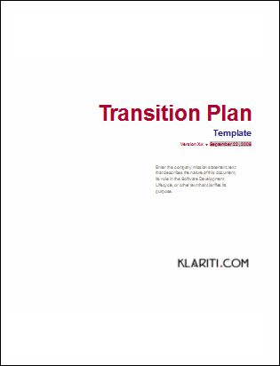 Click here to download your Transition Plan Template