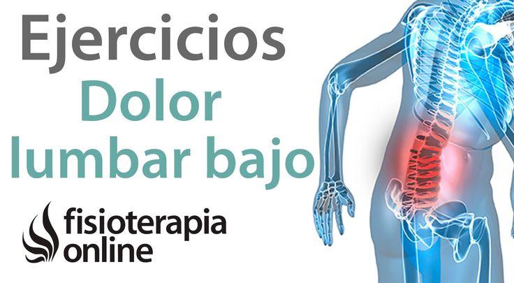 Dolor lumbar bajo o de cintura - Tratamiento con ejercicios, automasajes...