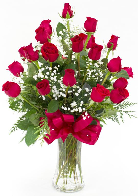 Valentine's Day - Valentine's Two Dozen Roses - Flowerama Columbus - Columbus Florist - Same Day Flower Delivery