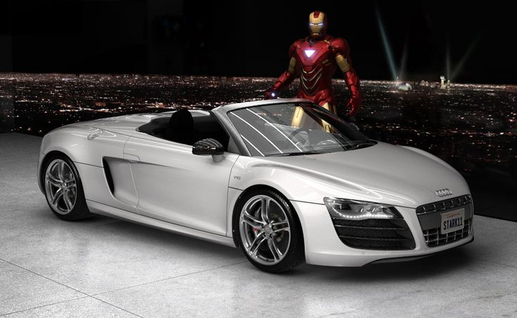 Audi R8 V10 - ideal with the IronMan suit