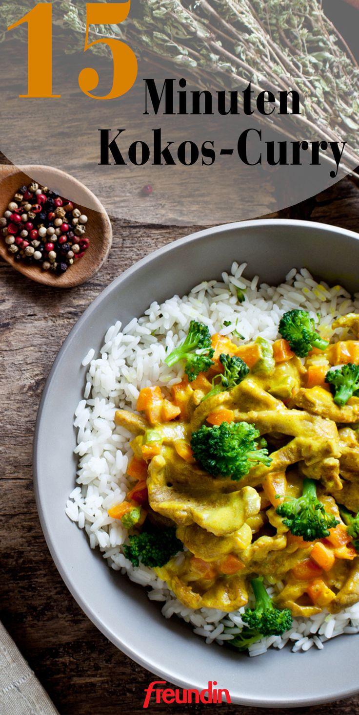 Rezept 15 Minuten Kokos-Curry   – Scharfe Rezepte