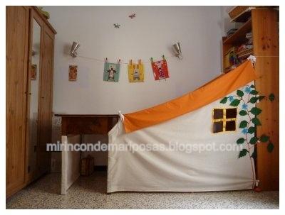 mi rincón de mariposas: Coser una casita de tela